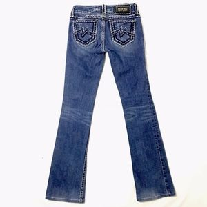 Miss Me Boot Cut Jeans Embroidered
